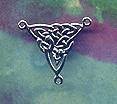 Celtic Centerpiece Slave Bracelet Finding 1 inch tall
